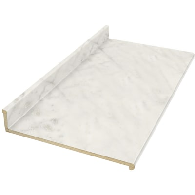 10 Ft Carrara Bianco Straight Laminate