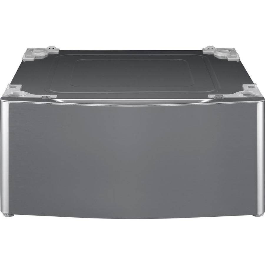 LG 13.6-in x 27-in Graphite Steel Laundry Pedestal with Storage Drawer