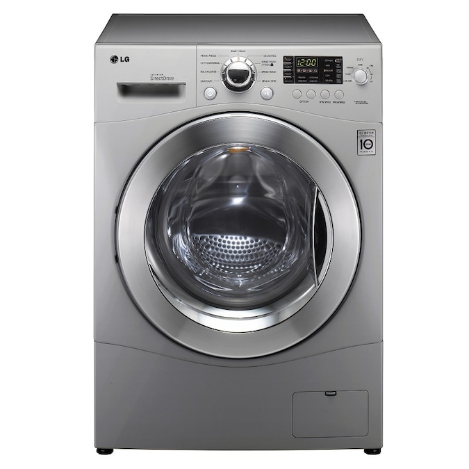 """lg lg 23 cu ft 24"""" compact washerdryer combo silver"""