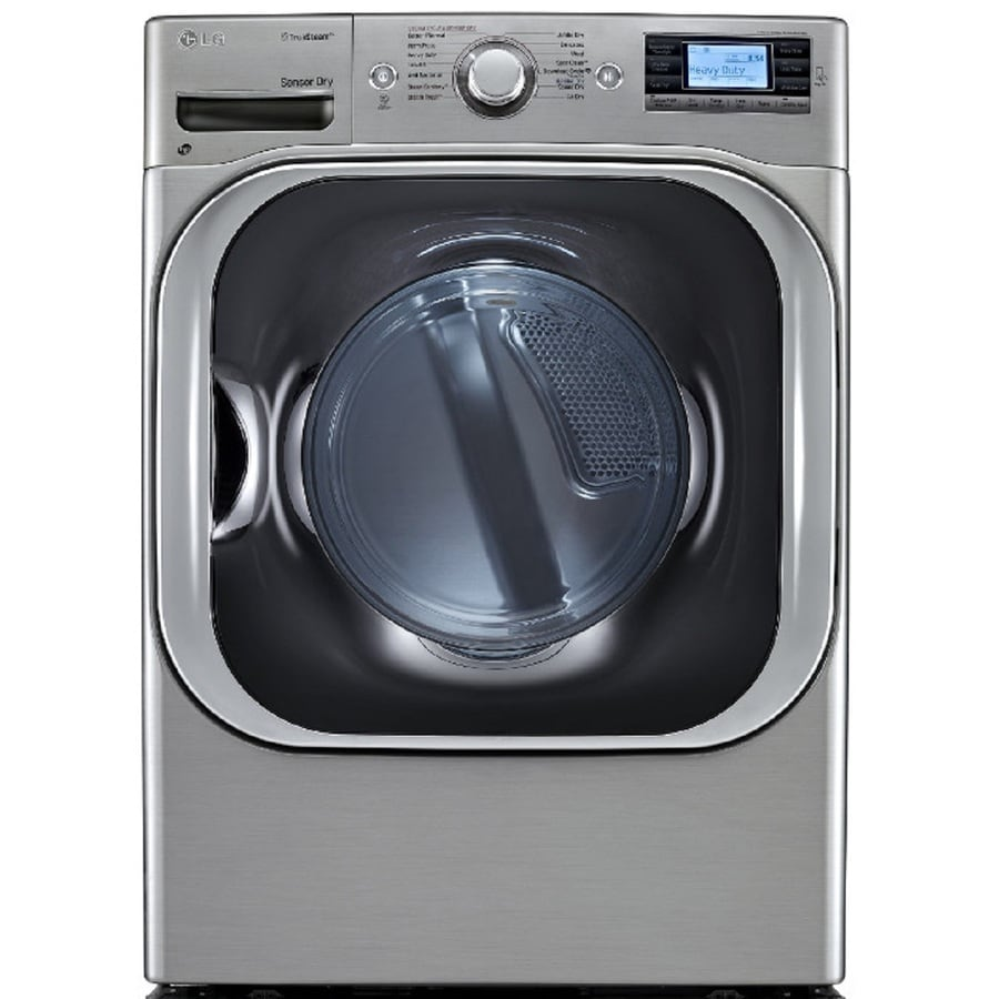 LG 9-cu ft Stackable Electric Dryer (Graphite Steel)