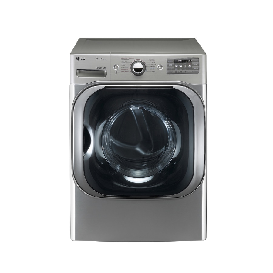 LG 9-cu ft Stackable Electric Dryer with Steam Cycle (Graphite Steel)
