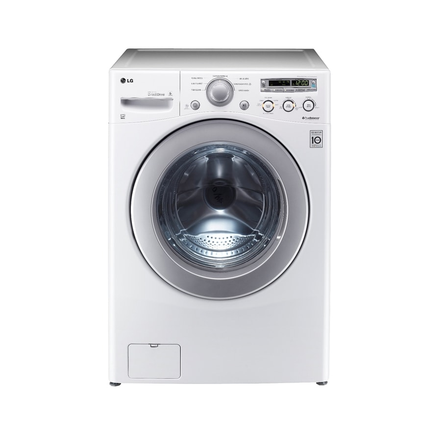 LG 3.6-cu ft High-Efficiency Stackable Front-Load Washer (White) ENERGY STAR
