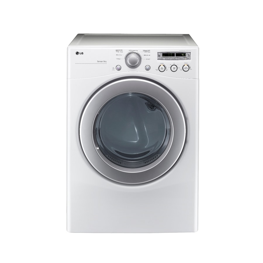 LG 7.1-cu ft Gas Dryer (White)