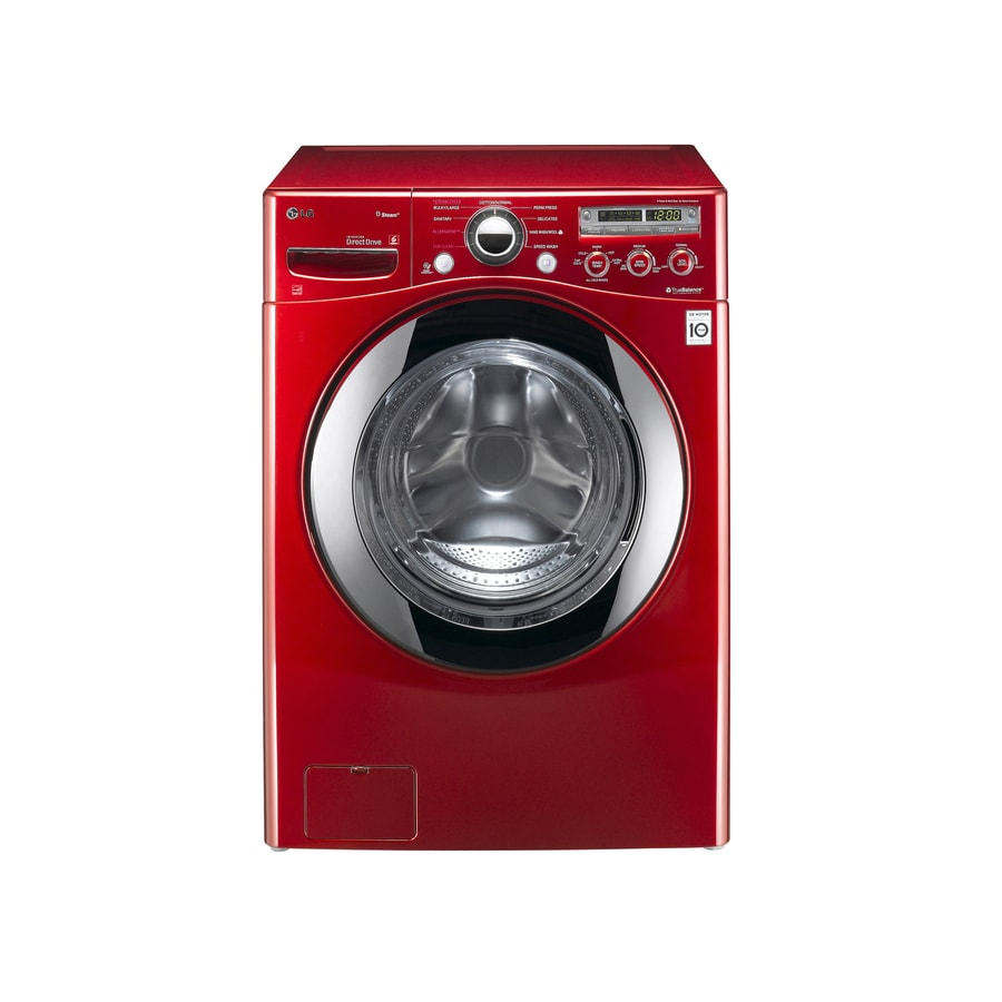LG 3.6-cu ft High-Efficiency Stackable Front-Load Washer (Wild Cherry Red) ENERGY STAR