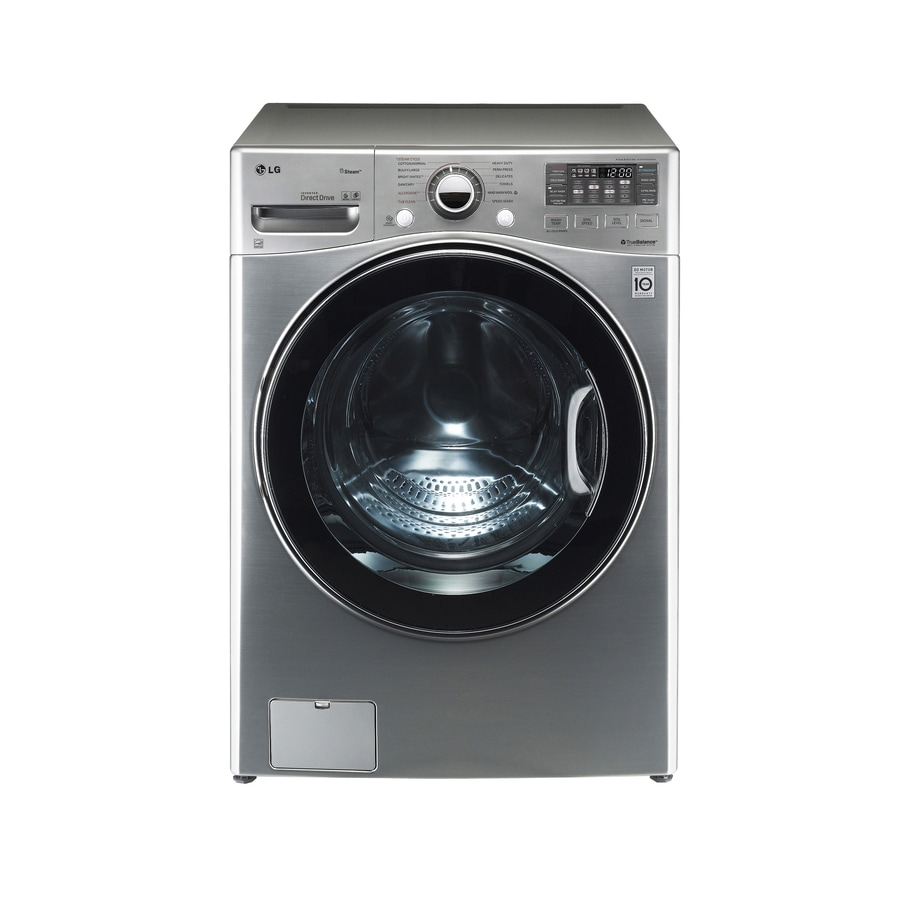 LG 4.0-cu ft High-Efficiency Stackable Front-Load Washer (Graphite Steel) ENERGY STAR