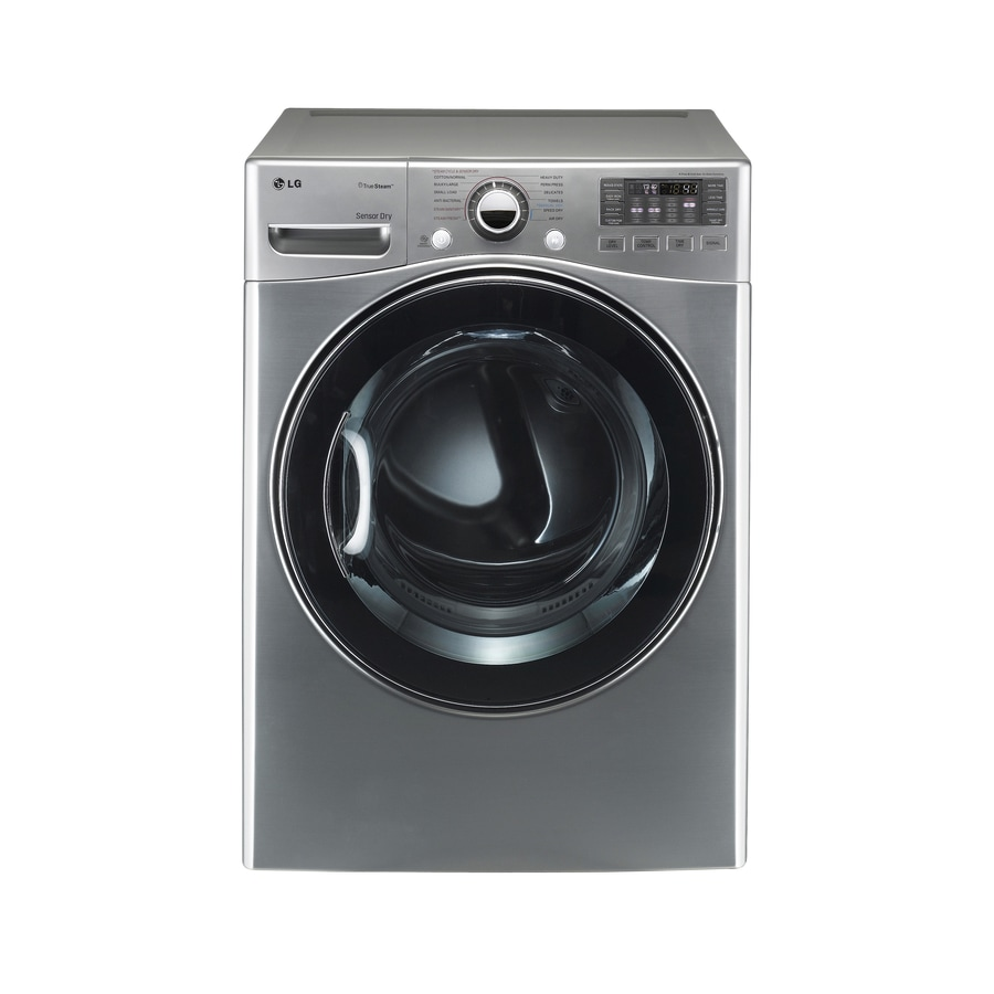 LG 7.3-cu ft Stackable Electric Dryer (Graphite Steel)