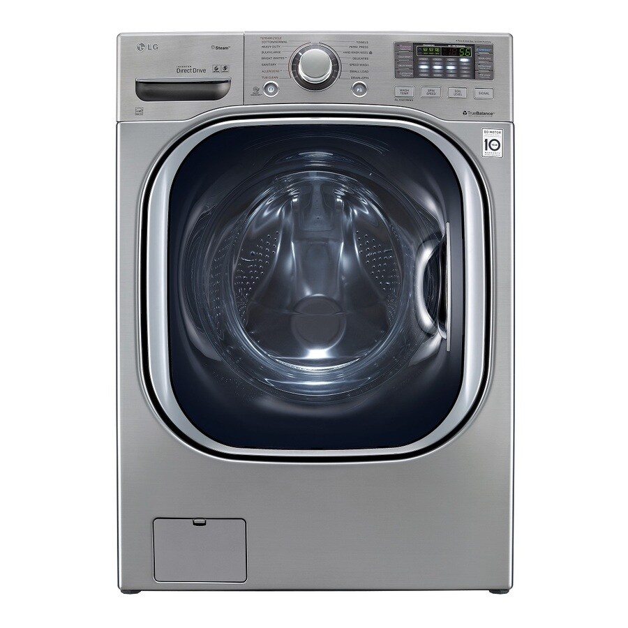 LG 4.3-cu ft High-Efficiency Front-Load Washer with Steam Cycle (Graphite Steel) ENERGY STAR