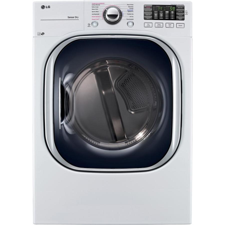 LG 7.4-cu ft Stackable Gas Dryer (White) ENERGY STAR
