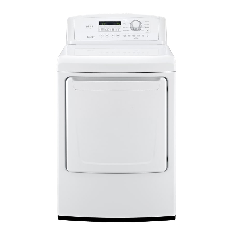LG 7.3-cu ft Gas Dryer (White)