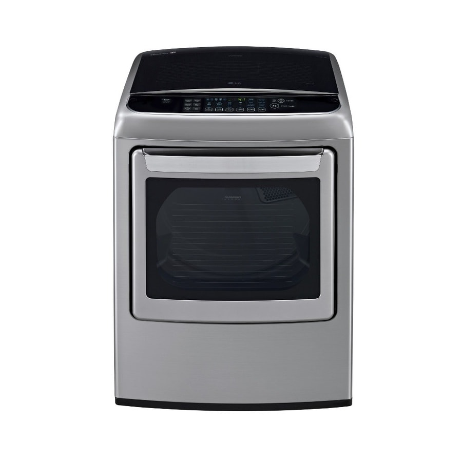 LG 7.3-cu ft Electric Dryer with Steam Cycle (Graphite Steel)