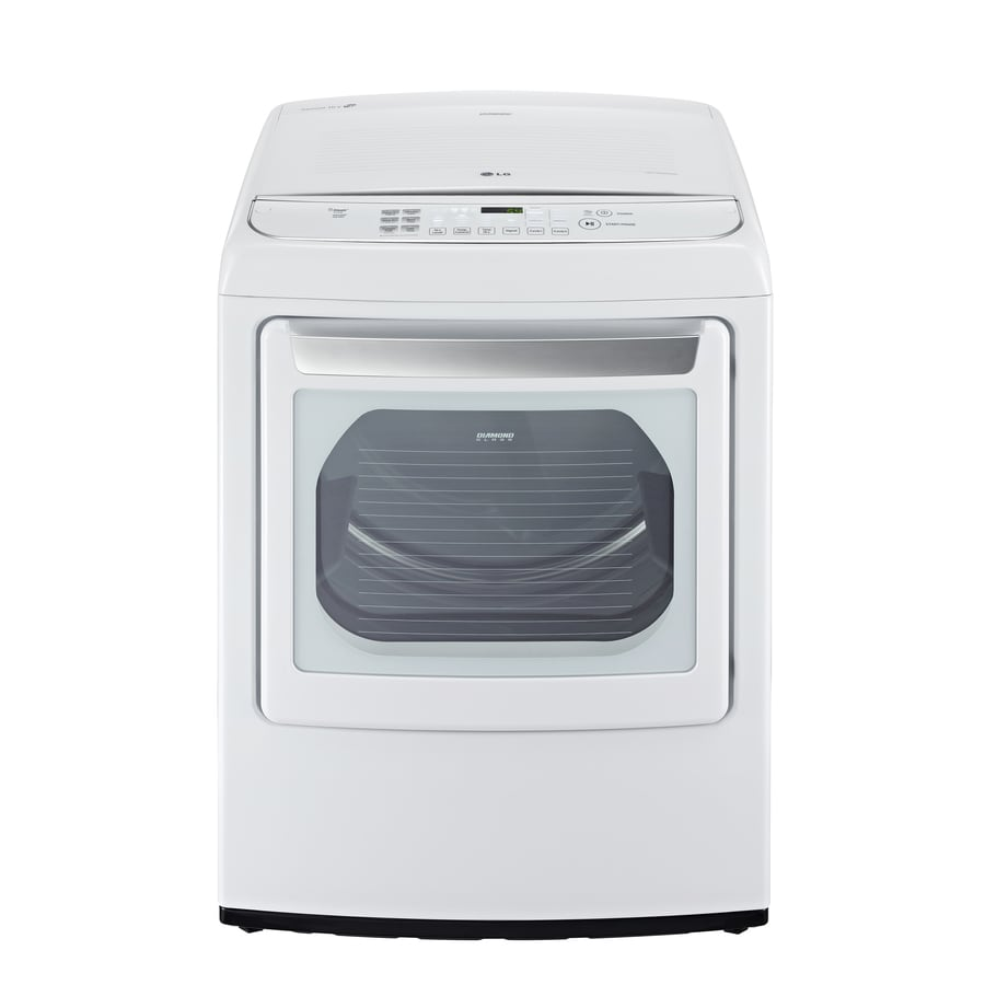 LG 7.3-cu ft Electric Dryer with Steam Cycle (White)