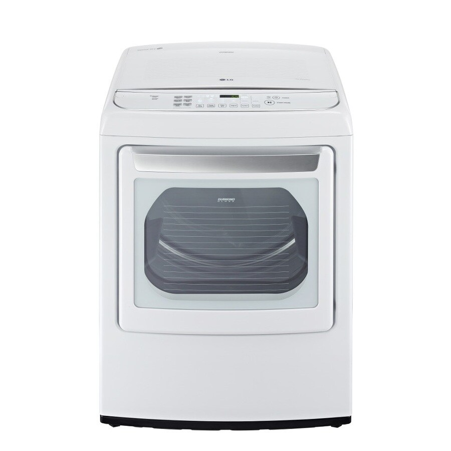 LG 7.3-cu ft Gas Dryer with Steam Cycle (White)