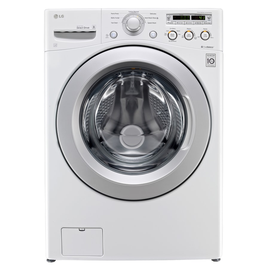 LG 4.0-cu ft High-Efficiency Stackable Front-Load Washer (White) ENERGY STAR