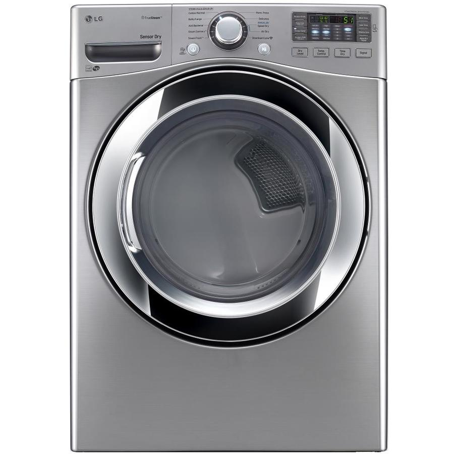 LG 7.4-cu ft Stackable Electric Dryer with Steam Cycle (Graphite Steel) ENERGY STAR