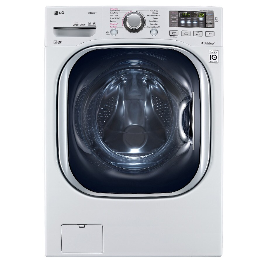 LG 4.5-cu ft High-Efficiency Stackable Front-Load Washer with Steam Cycle (White) ENERGY STAR