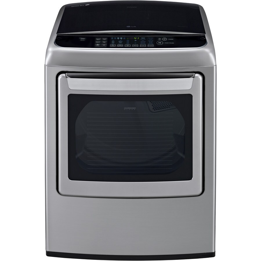 LG EasyLoad 7.3-cu ft Electric Dryer with Steam Cycle (Graphite Steel) ENERGY STAR