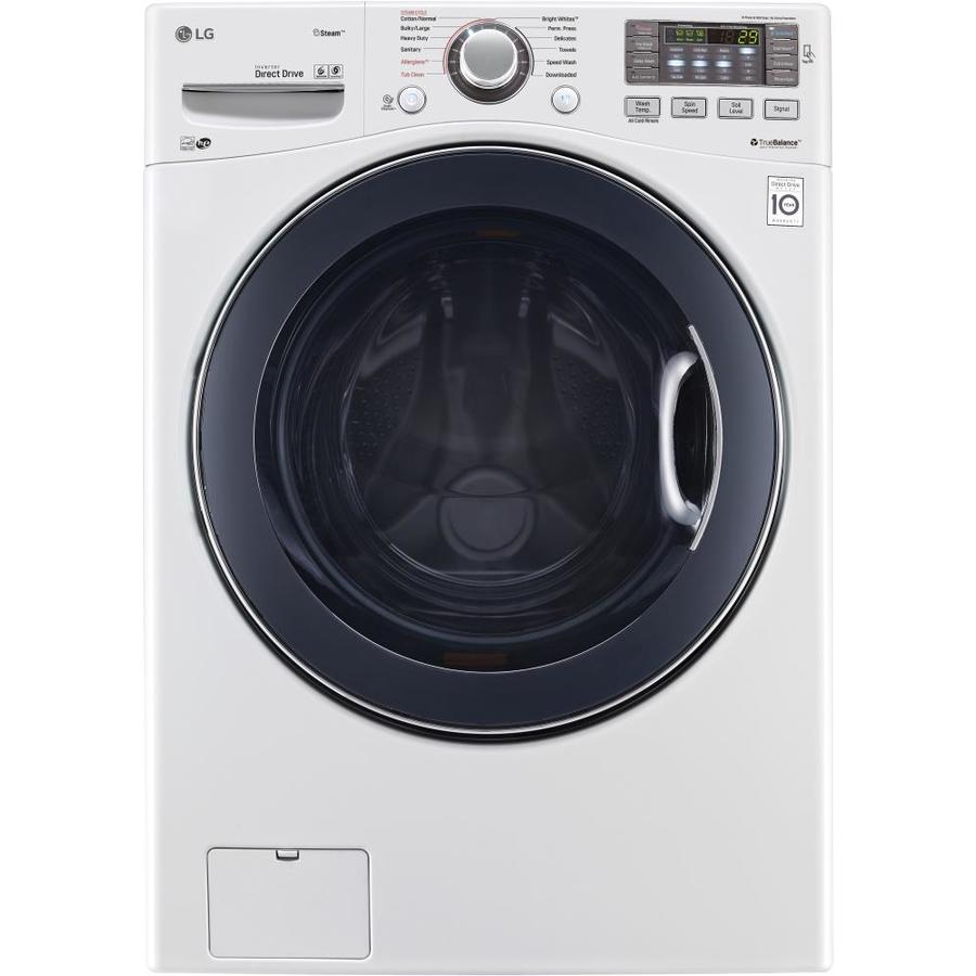 LG 4.3-cu ft High-Efficiency Stackable Front-Load Washer (White) ENERGY STAR