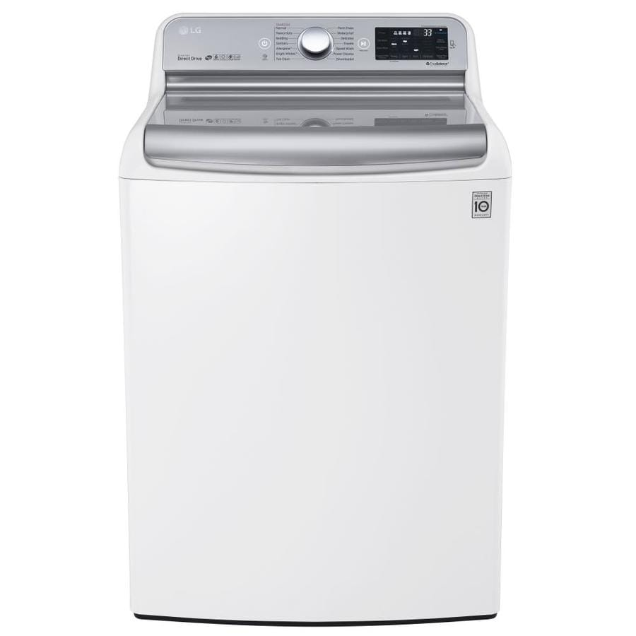 LG 5.7-cu ft High-Efficiency Top-Load Washer (White) ENERGY STAR