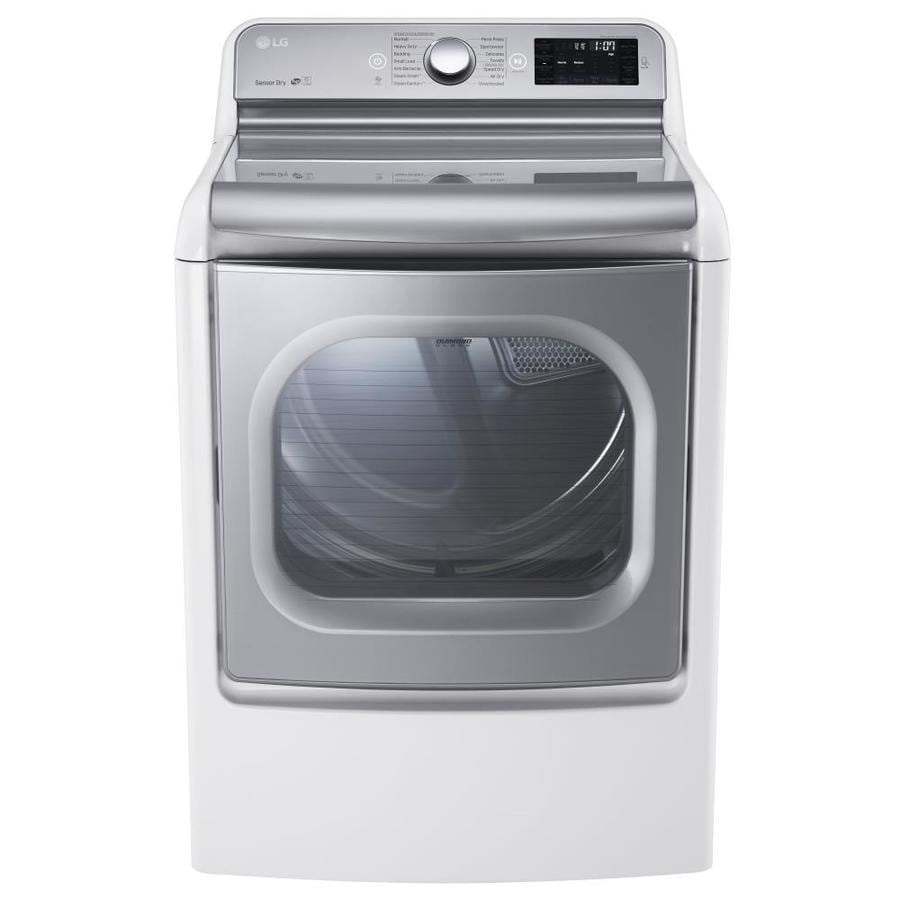 LG EasyLoad 9-cu ft Gas Dryer with Steam Cycle (White)