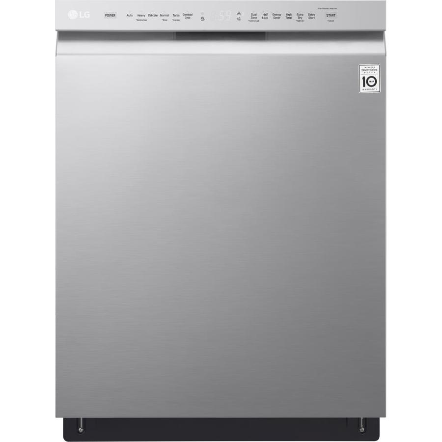 Lg 24 In Stainless Steel Front Control Dishwasher With Quadwash And Easyrack Plus Actual