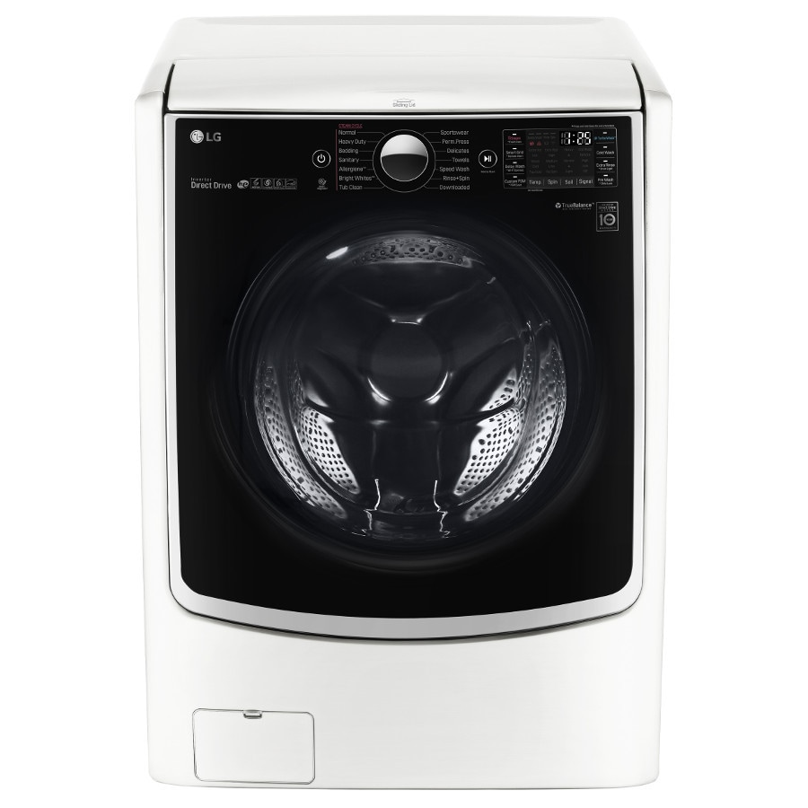 LG TWINWash Compatible 4.5-cu ft High-Efficiency Front-Load Washer (White) ENERGY STAR