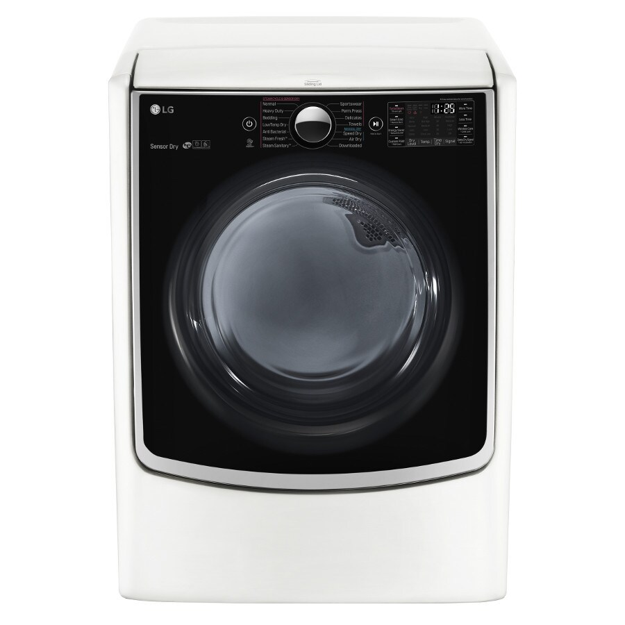 LG 7.4-cu ft Electric Dryer with Steam Cycle (White) ENERGY STAR