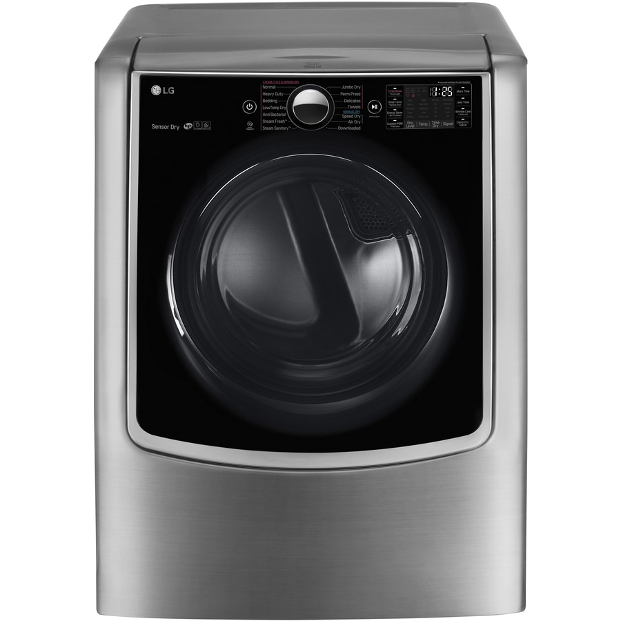 LG 9-cu ft Electric Dryer with Steam Cycle (Graphite Steel)