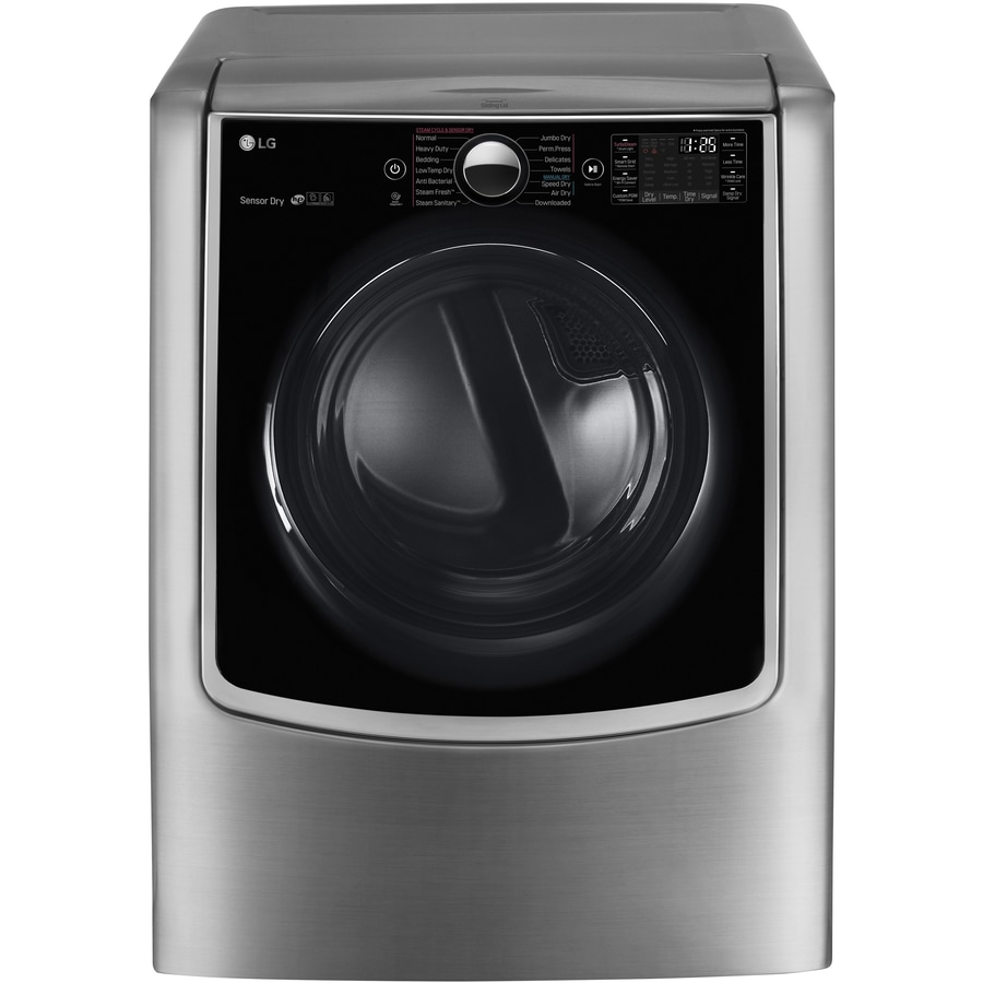LG 9-cu ft Gas Dryer with Steam Cycles (Graphite Steel) ENERGY STAR
