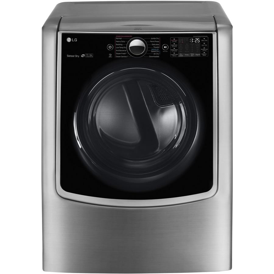 lg 9cu ft gas dryer graphite steel