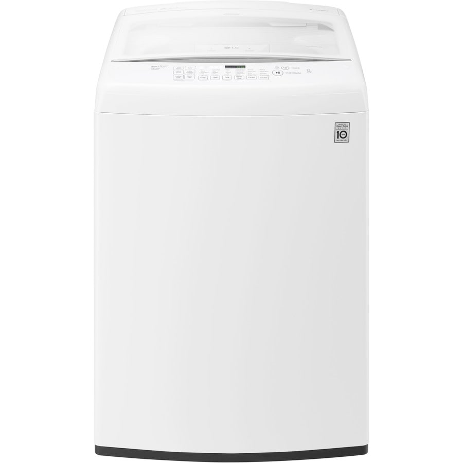 Lg 4 5 Cu Ft High Efficiency Top Load Washer White Energy