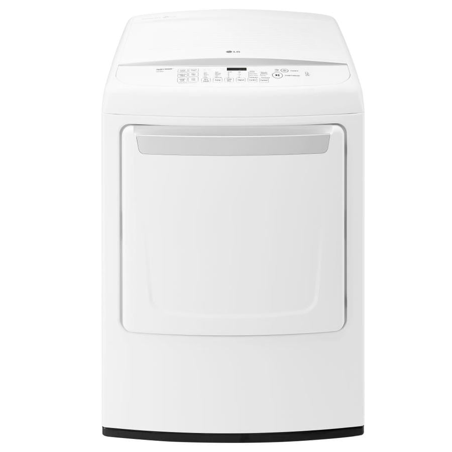 LG 7.3-cu ft Electric Dryer (White) ENERGY STAR