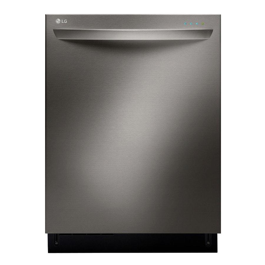 Shop Samsung 55 Decibel Built In Dishwasher Stainless: Shop LG Black Stainless 42-Decibel Built-in Dishwasher