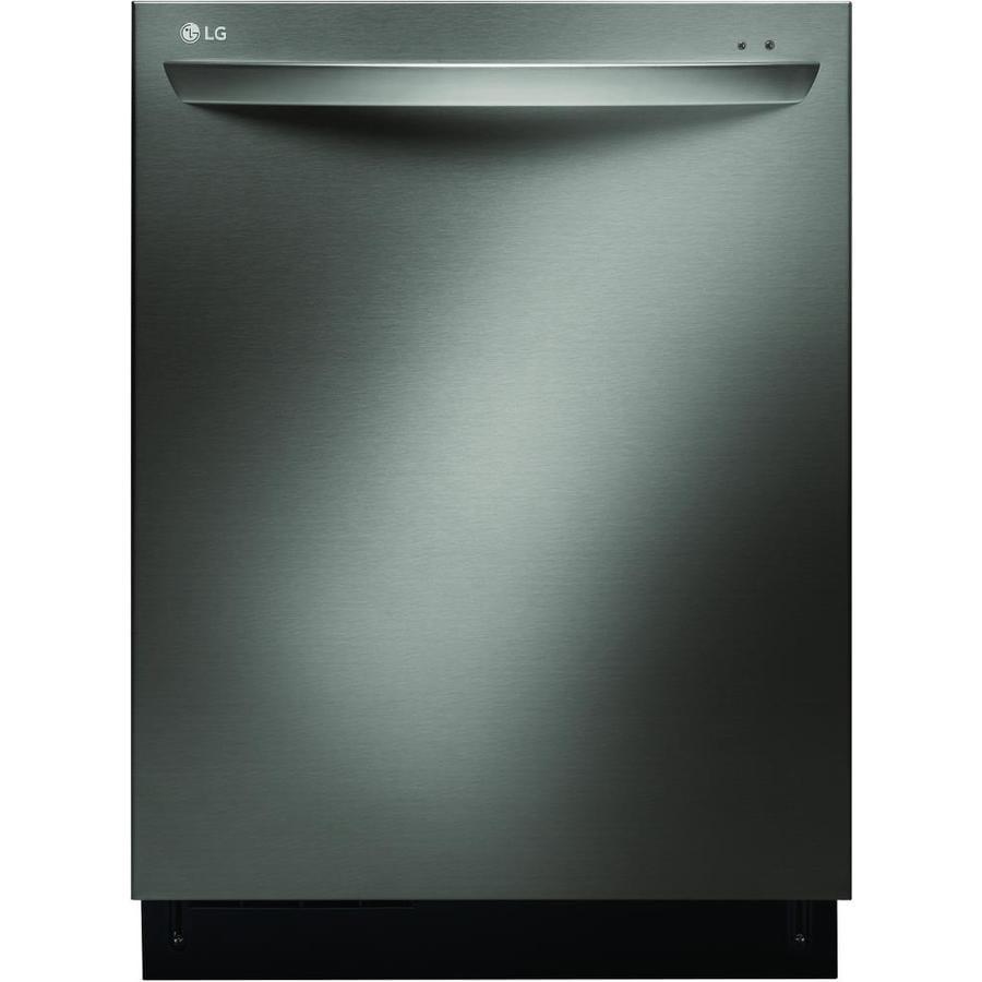 Shop LG 44-Decibel Built-In Dishwasher (Fingerprint-Resistant Black ...
