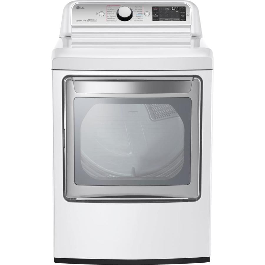 LG 7.3-cu ft Electric Dryer with Steam Cycle (White) ENERGY STAR