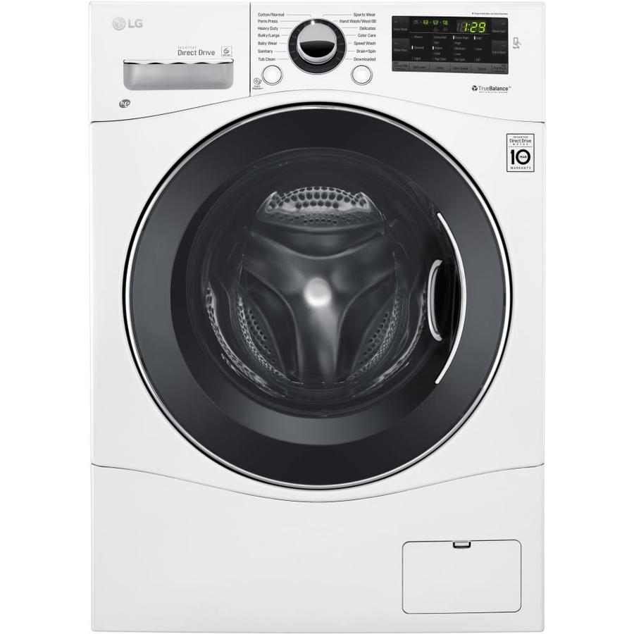 LG 2.3-cu ft High-Efficiency Stackable Front-Load Washer (White) ENERGY STAR