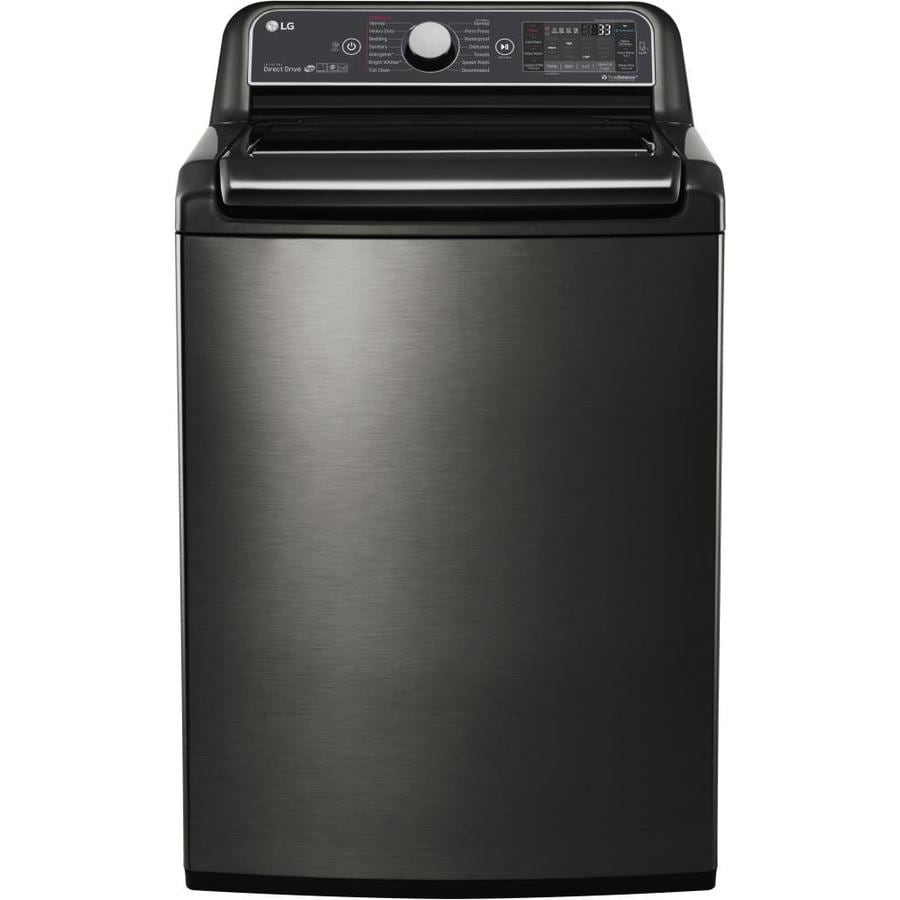 Best top load washers on the market - Lg 5 2 Cu Ft High Efficiency Top Load Washer Black Stainless Steel