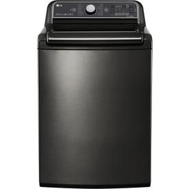 washers & dryers at lowes com  lg 5 2 cu ft high efficiency top load washer (black stainless steel