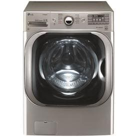 LG TWINWash Compatible 5.2-cu ft High Efficiency Stackable Front-Load Washer (Graphite Steel) ENERGY STAR