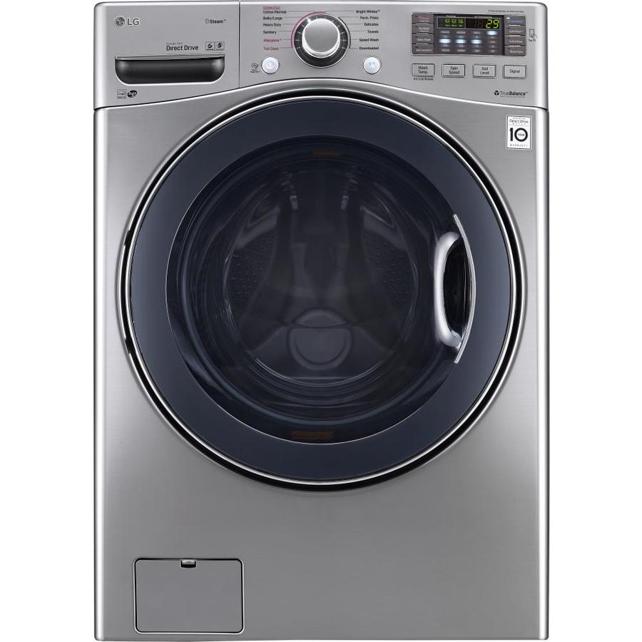 Lg Stackable Washer And Dryer shop lg 4.5-cu ft high-efficiency stackable front-load washer