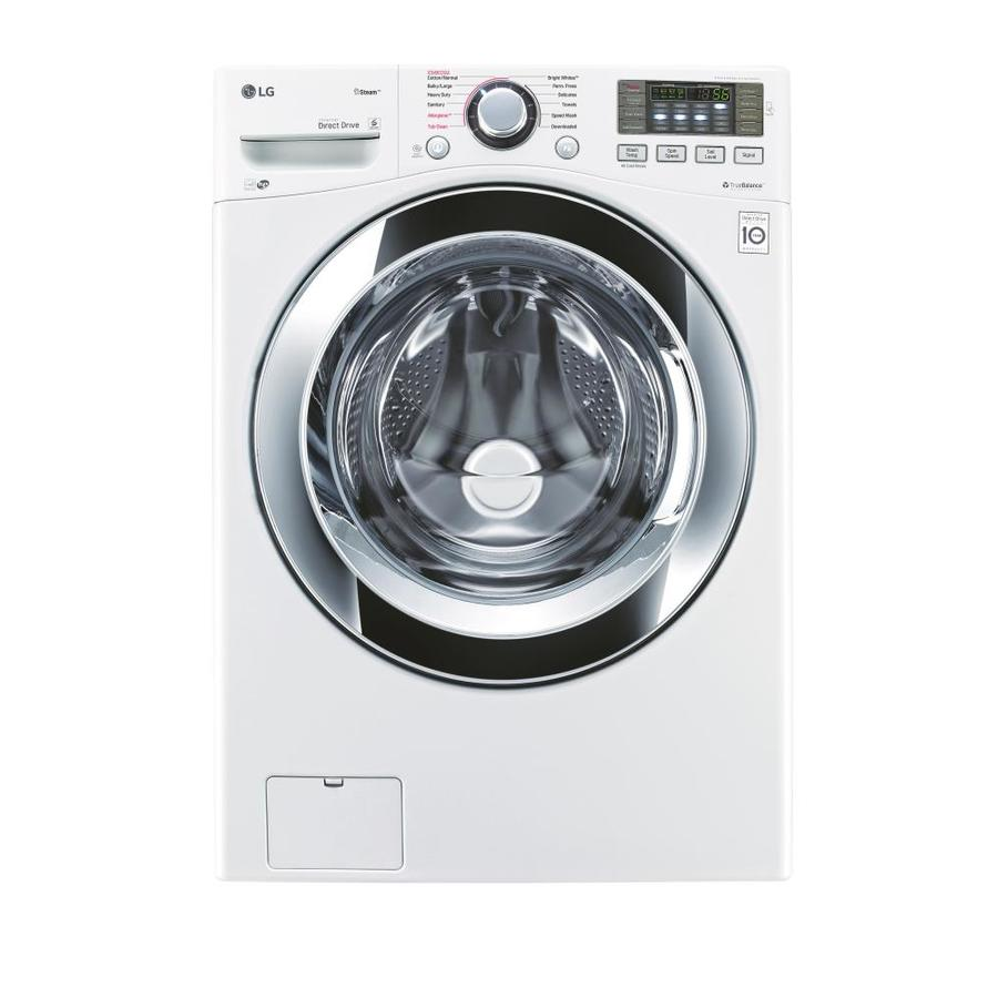 LG TWINWash Compatible 4.5-cu ft High-Efficiency Stackable Front-Load Washer Steam Cycle (White) ENERGY STAR