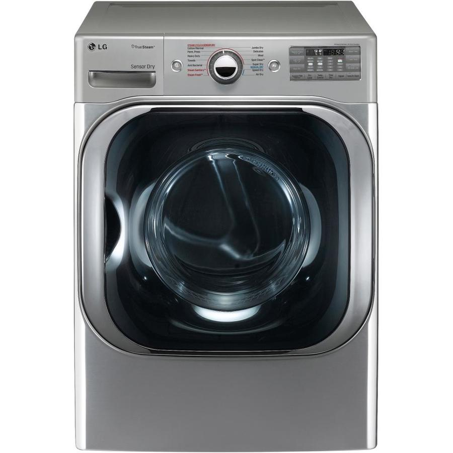 LG 9-cu ft Stackable Gas Dryer with Steam Cycle (Graphite Steel)
