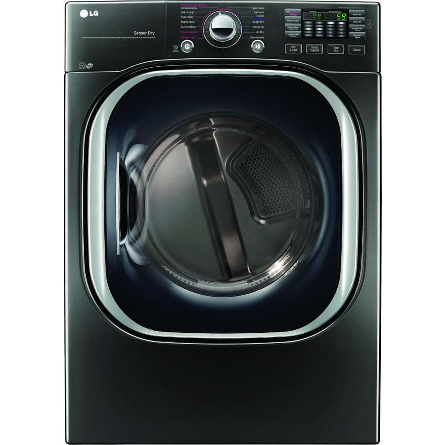 Lg Dryer Manufacture ~ Shop lg cu ft stackable electric dryer black