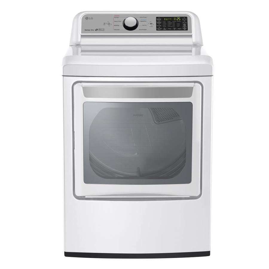 LG 7.3 Cu Ft Electric Dryer (White) ENERGY STAR