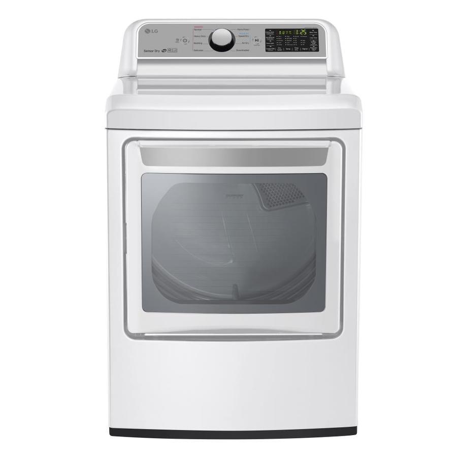 Lg 7 3 Cu Ft Gas Dryer White Energy Star