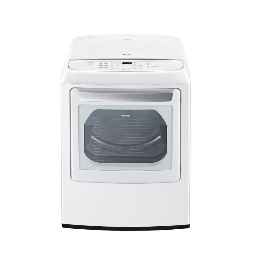 lg 73cu ft electric dryer white energy star