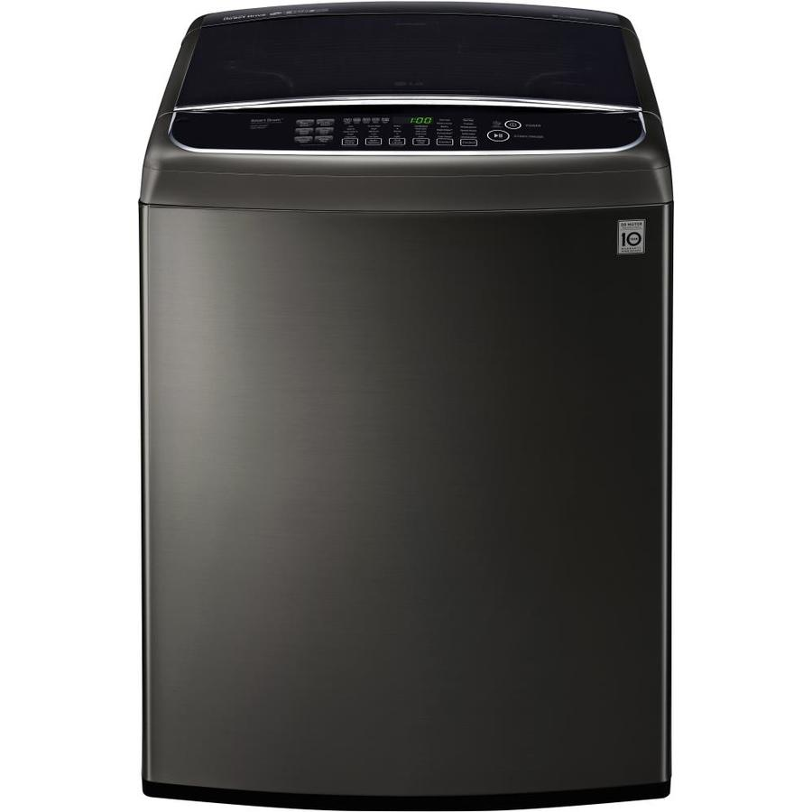 LG 5.0-cu ft High-Efficiency Top-Load Washer (Black Stainless Steel) ENERGY STAR