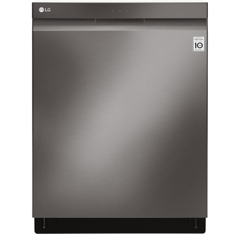 LG Quadwash 44-Decibel Built-in Dishwasher (Black Stainless Steel) (Common: 24-in; Actual: 23.75-in) ENERGY STAR