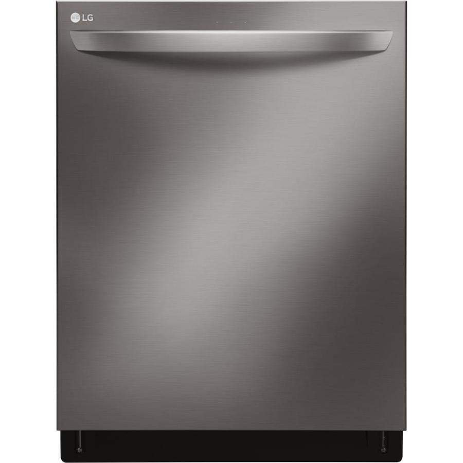 LG 44-Decibel Built-In Dishwasher (Fingerprint-Resistant Black Stainless Steel) (Common: 24-in; Actual: 23.75-in) ENERGY STAR