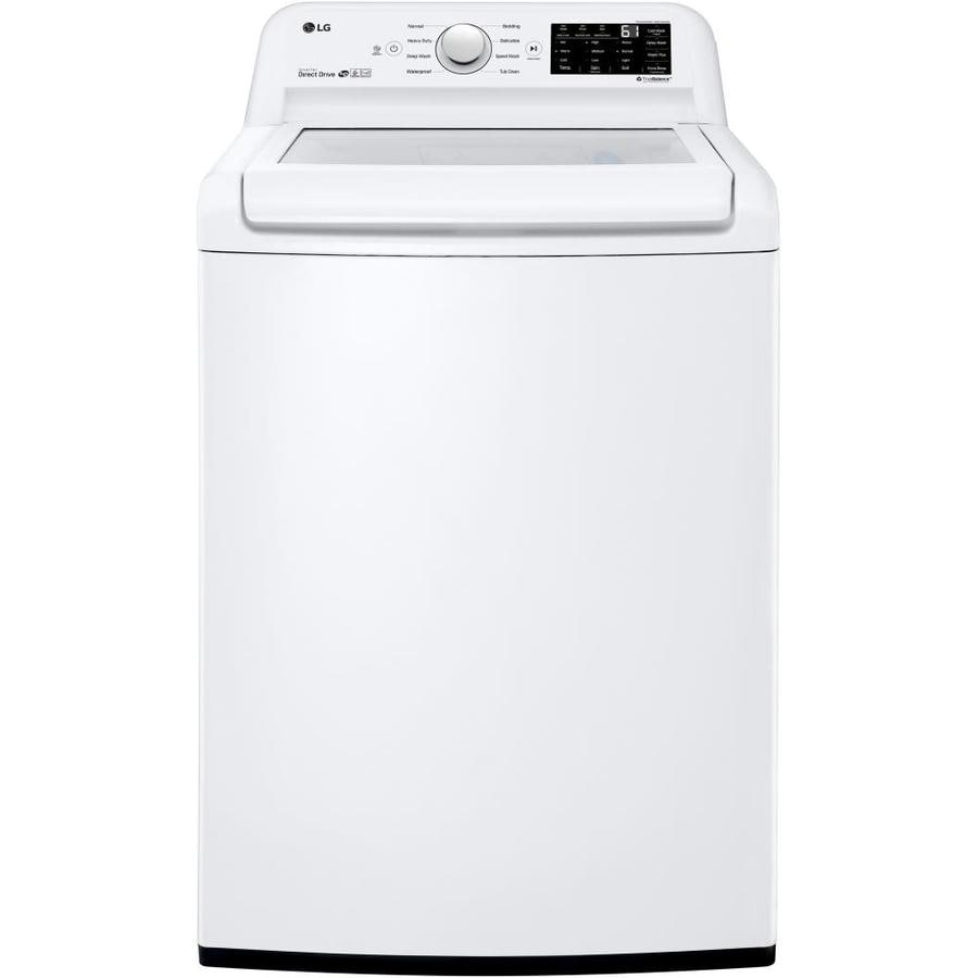 Lg 4 5 Cu Ft High Efficiency Top Load Washer White