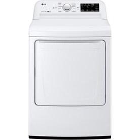 LG 7.3-cu ft Electric Dryer (White) ENERGY STAR
